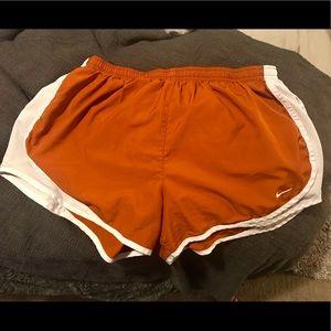 Nike Dri Fit Burnt Orange Texas Nike Tempo Shorts